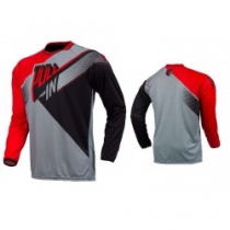 maillot-bmx-pull in gris noir rouge